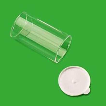 45 ml Clear Container, White Snap Cap